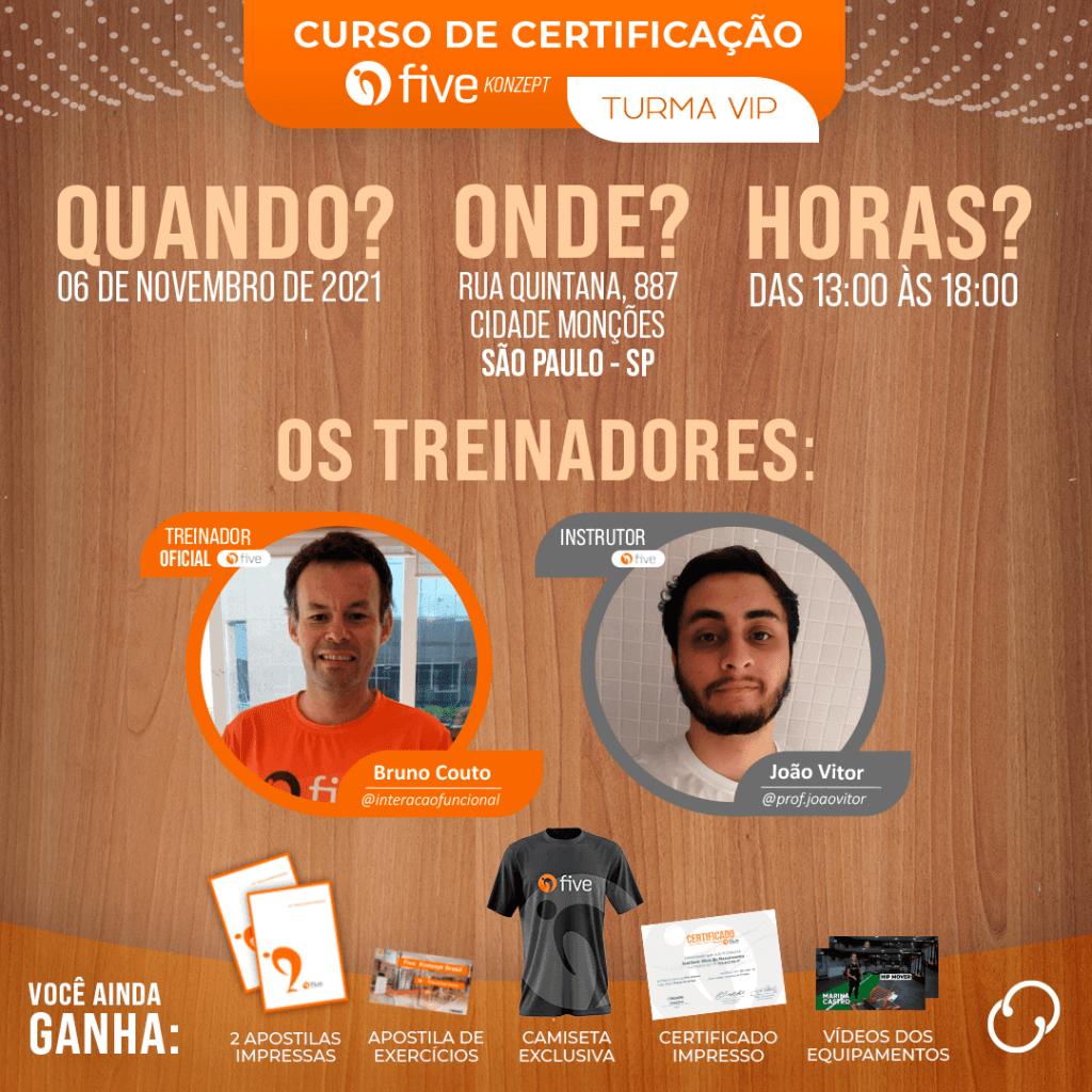 Certificação Five 06/11/2021